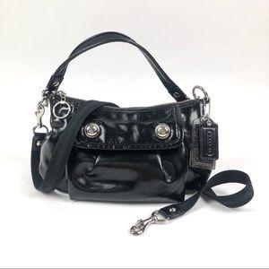 Coach Black Patent Groovy Hobo Crossbody Handbag